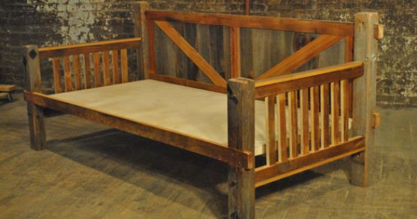 Barn wood daybed by secondlifestudios on etsy cabin pinterest
