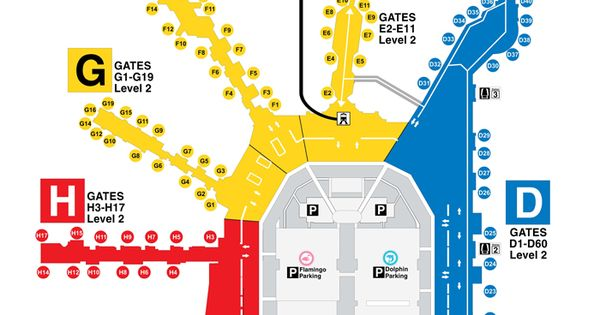 miami international airport :: map. print this up before