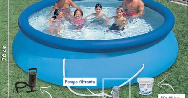 Pack Piscines Gonflables H 76cm X O 366cm Accessoires Easy Set Pools Intex Above Ground Swimming Pools