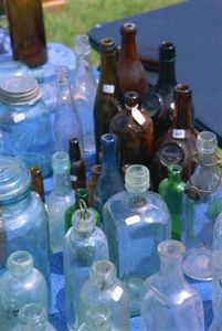 Old Bottles Jars Gl