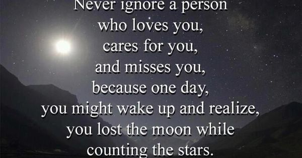 So true, some people have lost the moon