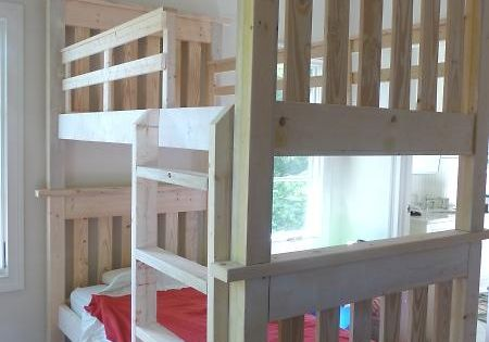 DIY Bunkbeds  Putting two kids in one room!  Pinterest  인테리어