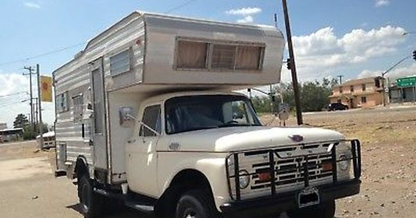 1964 Ford F 350 1964 Ford Classic Campers Vintage Rv