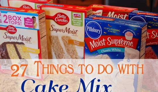 27 Things To Do With Cake Mix... Cookies, Bars, and of course