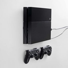 Playstation 4 Ps4 Wall Mount By Floating Grip Ps4 Wall Mount Wall Mounted Tv Playstation