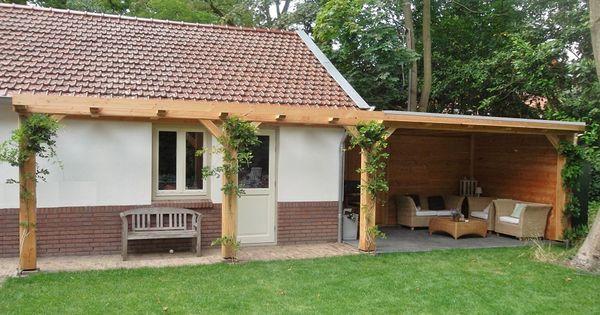 Veranda hout met 1000 580 zijtuin pinterest tuin pergolas and verandas - Bedekt hout pergola ...