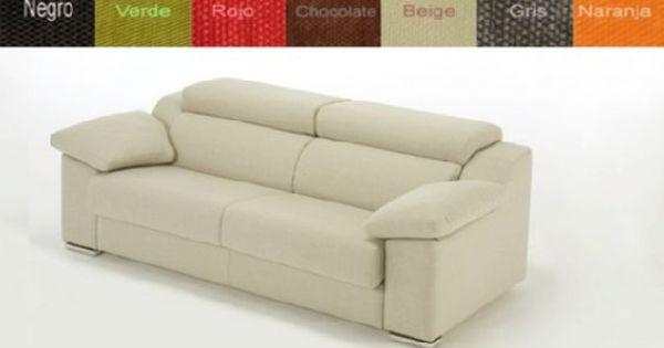 Sof cama dos plazas tapizado en tela con cabezales - Tela tapizado sofa ...