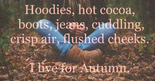 I love fall time!! I want this hot & humid summer business