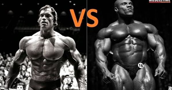 arnold schwarzenegger vs phil heath mr olympia old and new