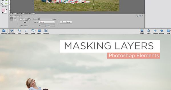 Layers in Photoshop Elements via clickitupanotch.com | Adobe Elements ...