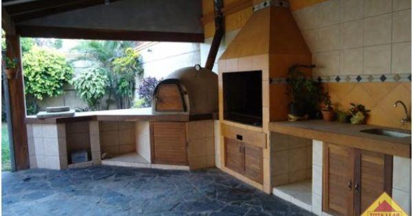 Interior de la barbacoa semi cerrada barbacoas cocinas - Barbacoa de interior ...