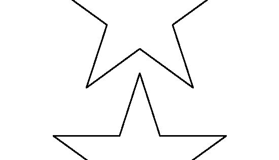 5 Inch Star Pattern. Use The Printable Outline For Crafts