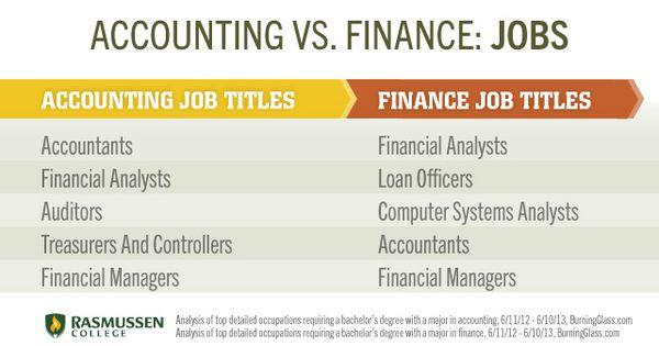 Accounting vs. Finance: Job les   ZACH   Pinterest