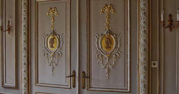 Puertas francesas con detalles de dorado a la hoja en for Precio de puertas francesas