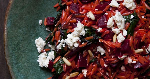 Warm Orzo Salad with Beets & Greens | ~ Salads & Great Veggie Dishes ...