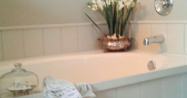 Diy Tub Surround Using Peel And Stick Vinyl Planks To