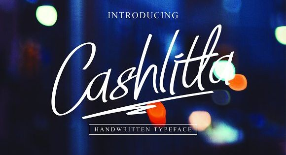 Cashlitta is a font inspired by the signature of a president in a country
