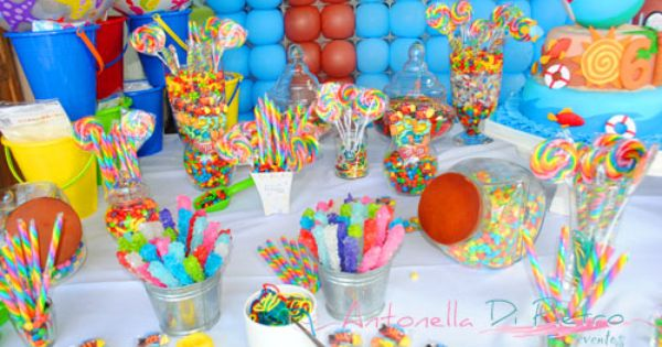 Fiesta en la piscina pool party decoraci n sweet - Ideas para cumpleanos en piscina ...