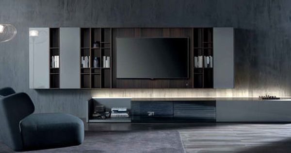 Contemporary TV Wall Unit / Wood N.C. GROUND CASE By Massimo Castagna  Acerbis International | Shelf | Pinterest | Tv Walls