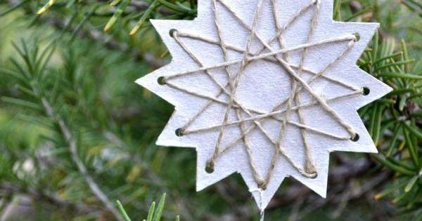 diy burlap christmas ornaments | 33 Lovely DIY Christmas Tree Ornaments |