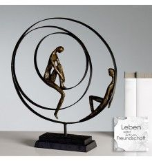 Deko Figur Skulptur Geduld Aus Polystone Bronzeoptik Skulpturen Metallskulptur Abstrakte Skulptur