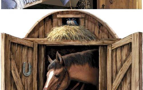 Horse Stable Door Peel And Stick Wall Mural Kids