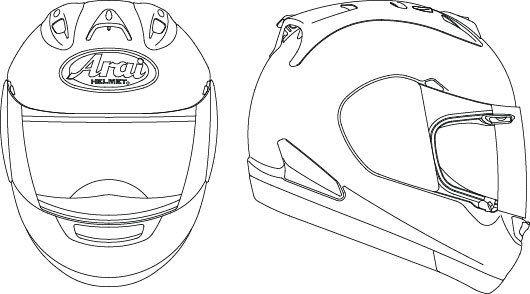 Arai Helmets Parts And Accessories Arai Helmets Helmet Drawing Helmet Design Helmet Illustration
