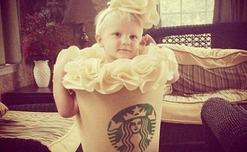 This pint-sized Frappucino. | 23 Kids Who Are Totally Nailing This Halloween
