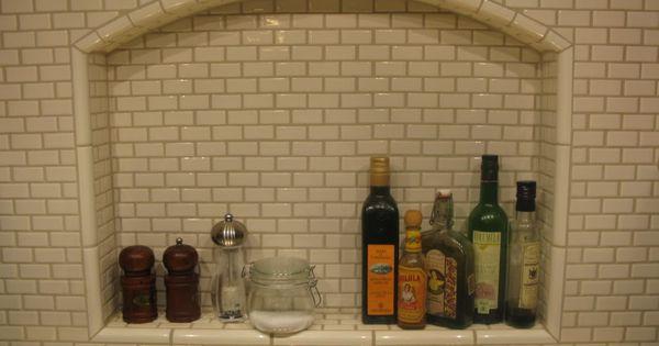 Subway tiles, Shower shelves and Tile on Pinterest