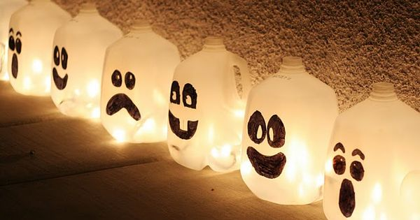 ghost milk cartons {halloween idea}