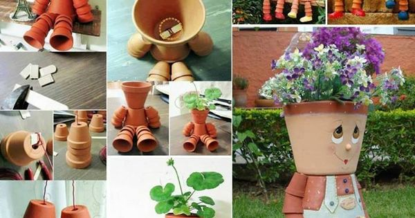 Clay pot flower people how to make http diycozyhome for How to make clay pot people