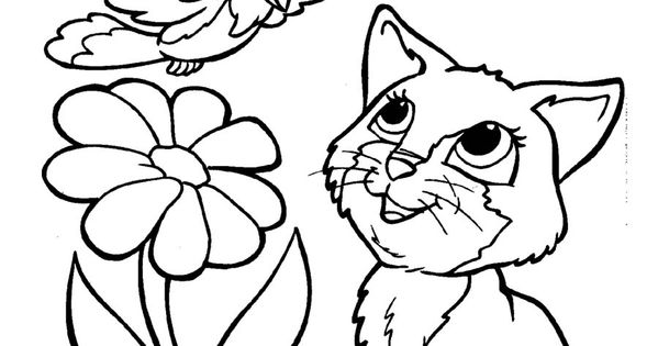 free cartoon clipart of puppies kitten birds and the bees