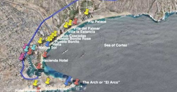Cabo San Lucas Beach Hotel Map Aerial Of Hotels Pinterest Future Travel And Jet Plane