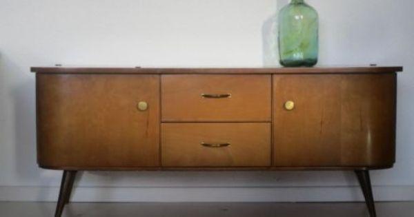 Retro vintage laag dressoir kast kastje jaren 50 60 for Interieur 60er jaren