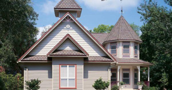 Scallops On House Siding Shakes And Scallops By Alside Brick Siding House Siding Wood Shingle Siding