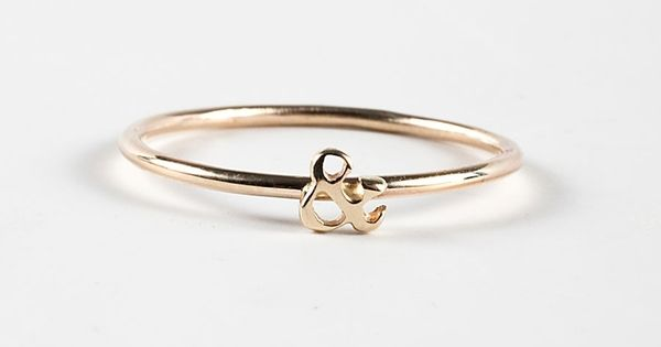 new ampersand ring from catbird nyc