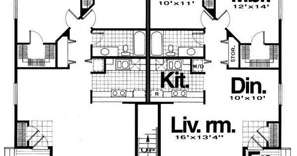 Four plex borderline properties pinterest for Modern 4 plex plans