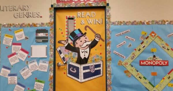 Mardel Classroom Decor ~ Monopoly theme for the reading classroom school