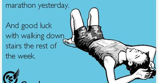 Running Humor #88: Congratulations On Finishing Your First