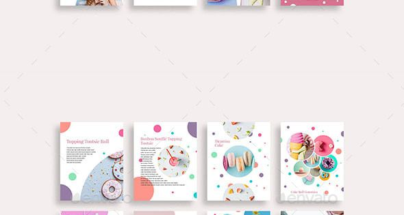 CupCake Social Media Pack – Social Media Web Elements