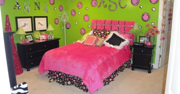 exciting teen girl bedroom green | teen girls bedroom ideas pink and green | Pink and Green ...