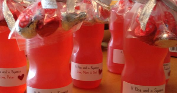 A kiss and a squeeze! Valentines gifts for the class
