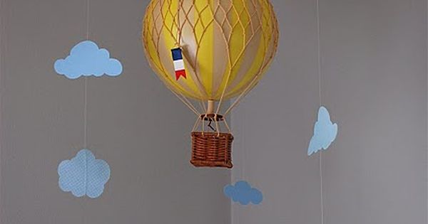 Cloud Baby Mobile + hot air balloon = baby