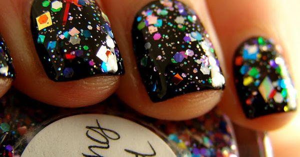 Diseño de uñas, nails ideas, uñas con purpurina, glitter nails