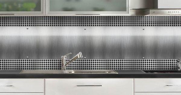 crédence de cuisine plaque inox perforée sur mesure aluminium ou