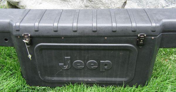 Vintage Jeep Cj7 1976 1986 Rear Plastic Storage Tool Box