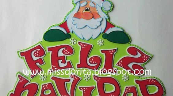 Moldes Videos Tutoriales Y Revistas Gratis De Foami Goma Eva Y Microporoso Compartir Es Letrero De Feliz Navidad Letras Feliz Navidad Adornos Navidad Foami
