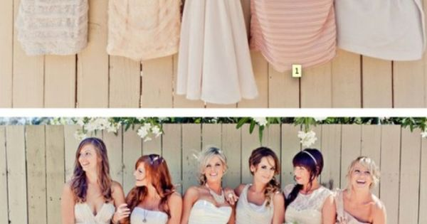 i think bridesmaid dresses need to be different for every bridesmaid, because