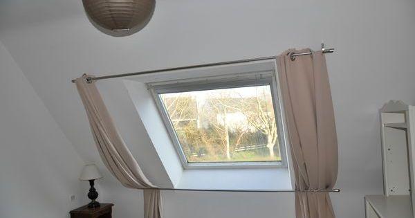 rideau pour v lux deco maison pinterest rideau pour velux velux et chambres. Black Bedroom Furniture Sets. Home Design Ideas