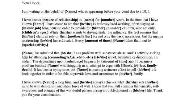 sample letter of reference character reference letter to judge before sentencing my 9033
